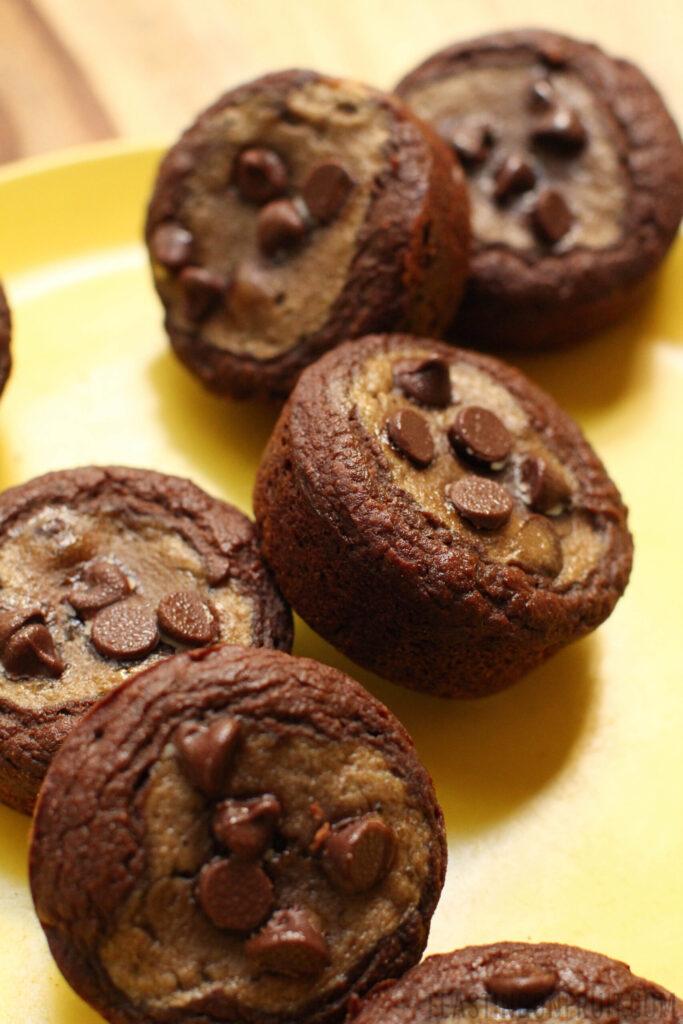 Black Bottom Banana Cupcakes - FeastingonFruit.com