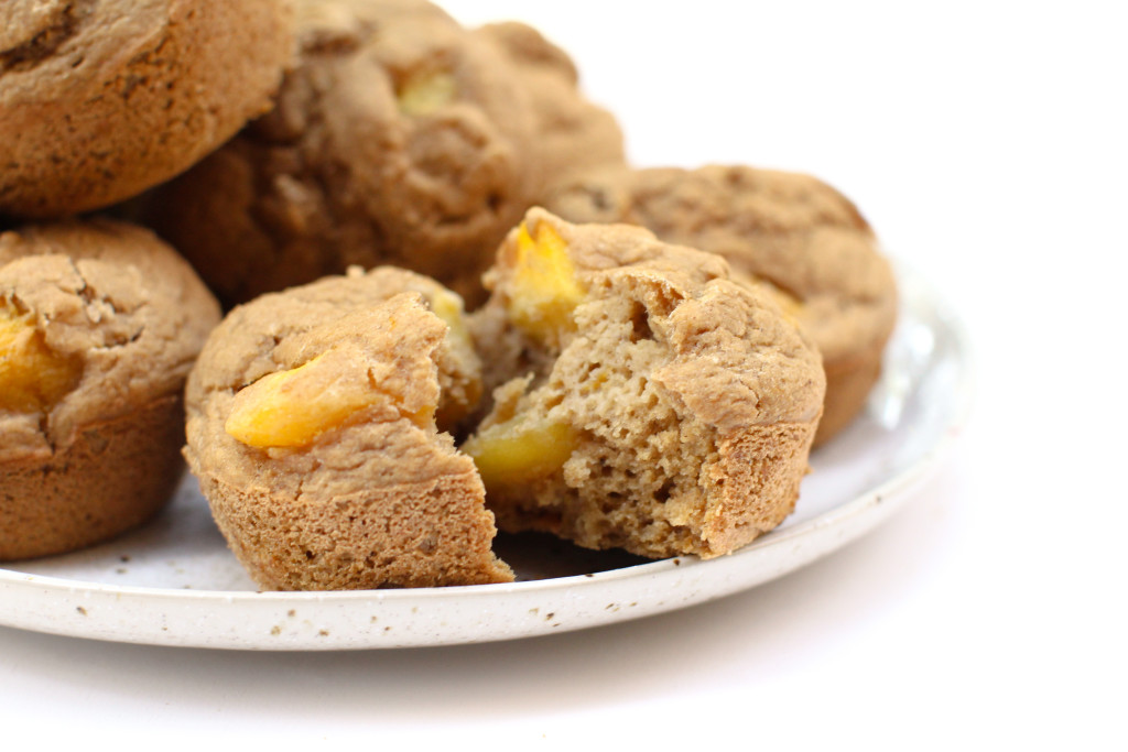 Mango Ginger Muffins - FeastingonFruit.com