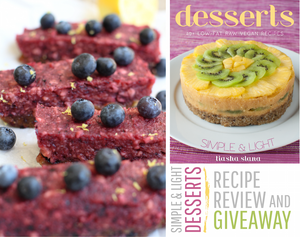 Raw Blueberry Slices + Simple & Light Desserts Review