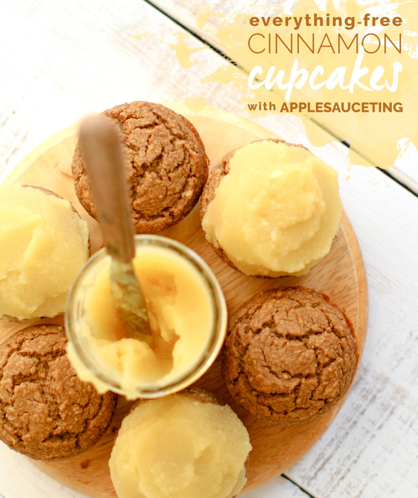 Everything-Free Cinnamon Cupcakes with Applesauceting - FeastingonFruit.com