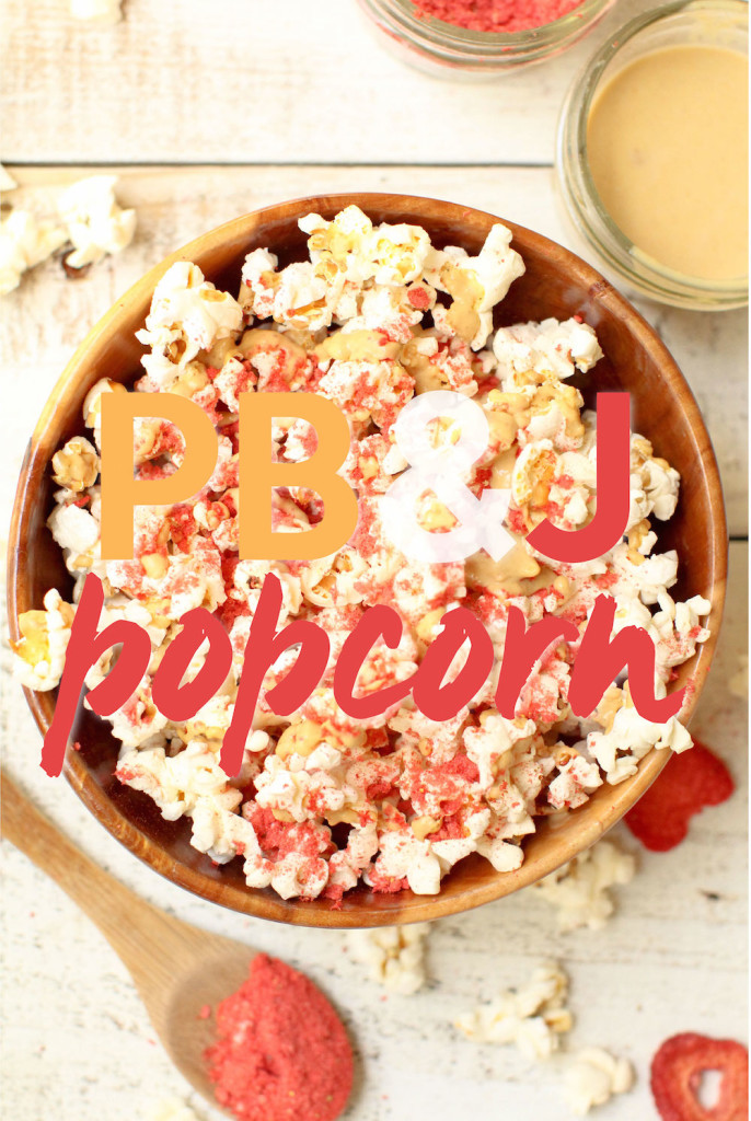 PB&J Popcorn - FeastingonFruit.com