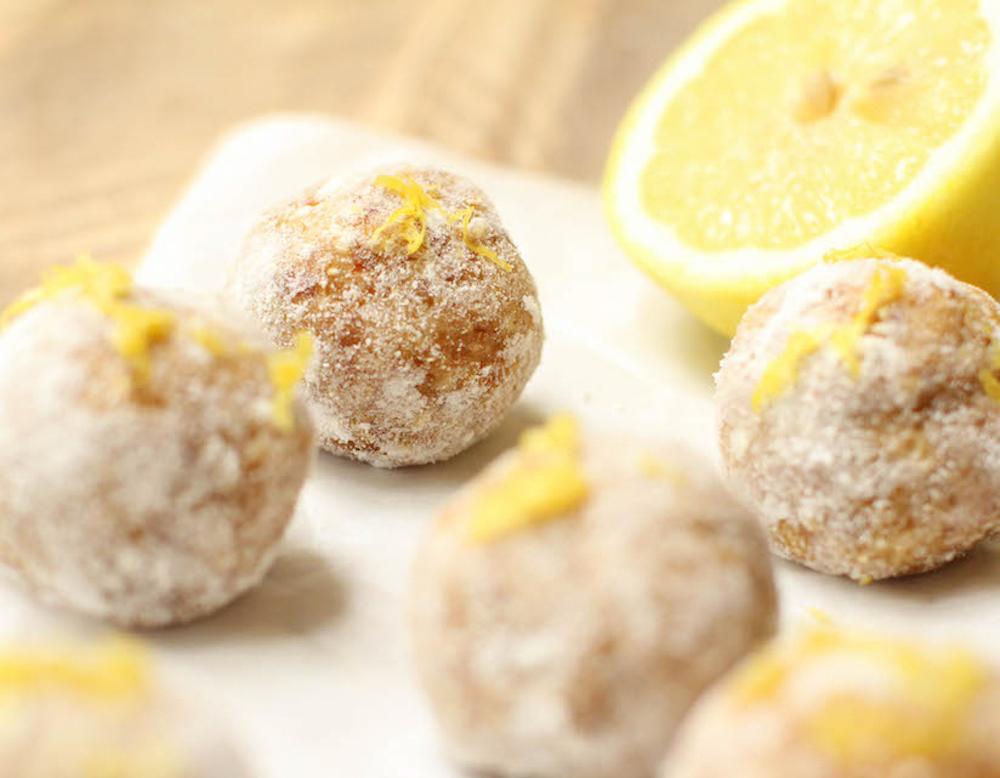 Lemon Millet Bliss Balls - FeastingonFruit.com