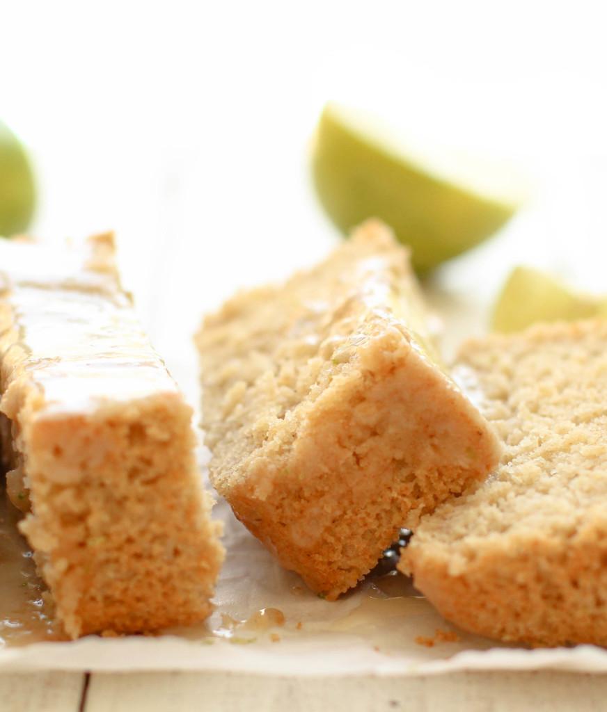 Vegan Lime Loaf Cake - FeastingonFruit.com