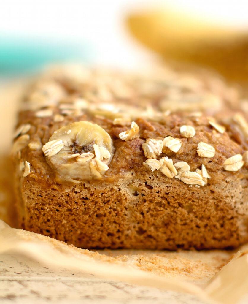 Sweet-Topped Oat Flour Banana Bread | Vegan, Gluten-Free, Oil-Free