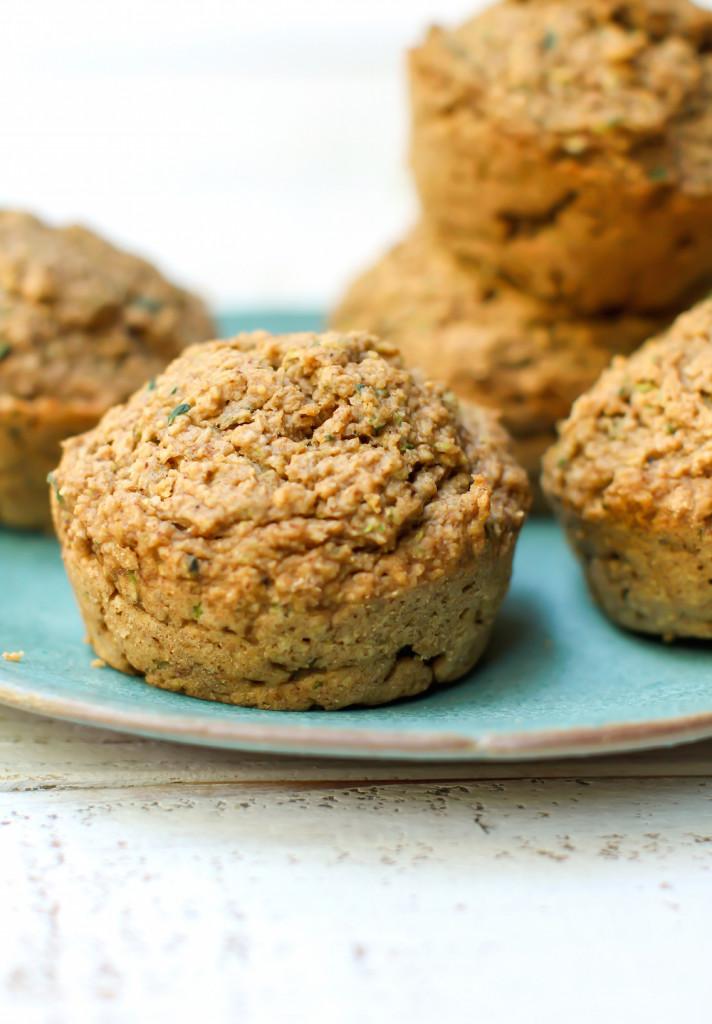 Zucchini Spice Muffins w/ Molasses Glaze - FeastingonFruit.com