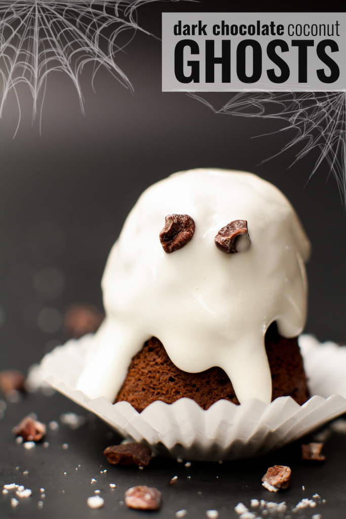 Dark Chocolate Coconut Ghosts - FeastingonFruit.com