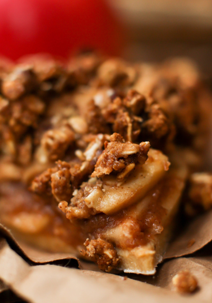 Caramel Apple Crumble Pie - FeastingonFruit.com