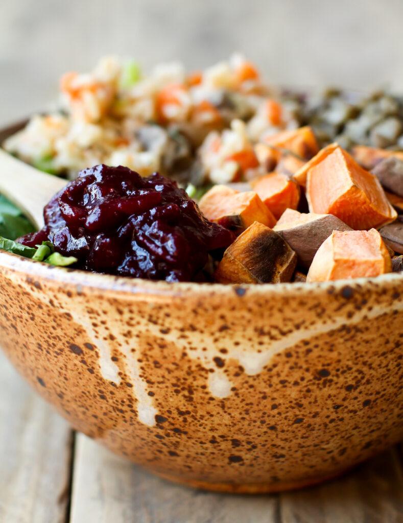Vegan Thanksgiving Power Bowl - FeastingonFruit.com