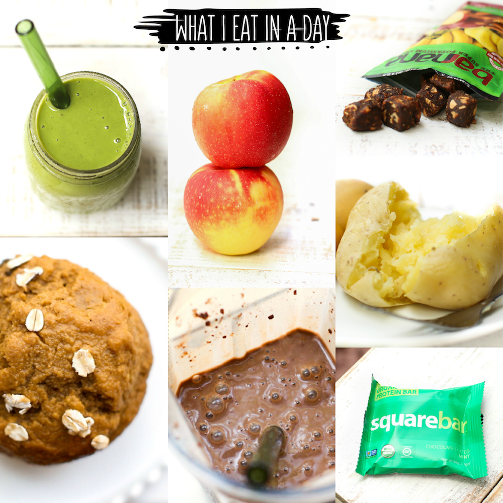 What I Eat in a Day (Smoothie Spree!) - FeastingonFruit.com