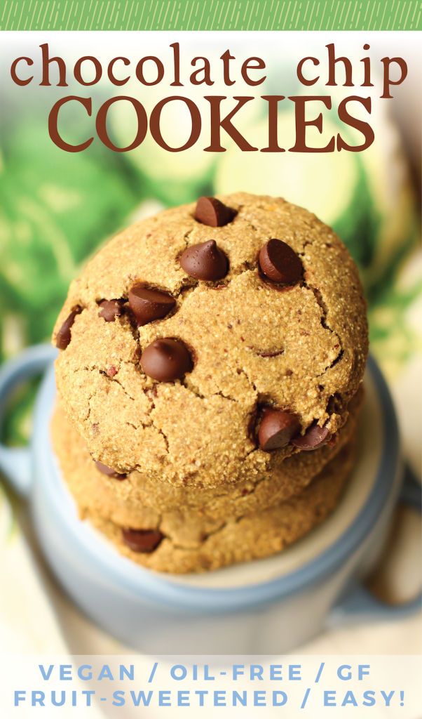 Easy Oat Flour Chocolate Chip Cookies | Vegan, Gluten-Free, Oil-Free