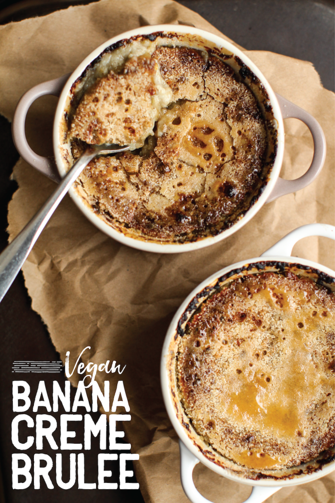 Vegan Banana Creme Brûlée - FeastingonFruit.com