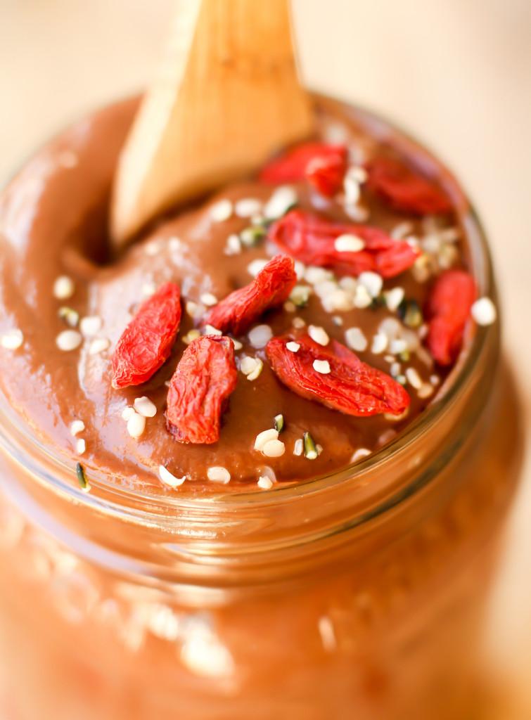 Cauliflower Chocolate Pudding - FeastingonFruit.com