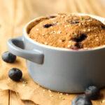 Blueberry Muffin in a Mug - FeastingonFruit.com