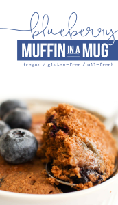 Blueberry Muffin in a Mug - FeastingonFruit.com