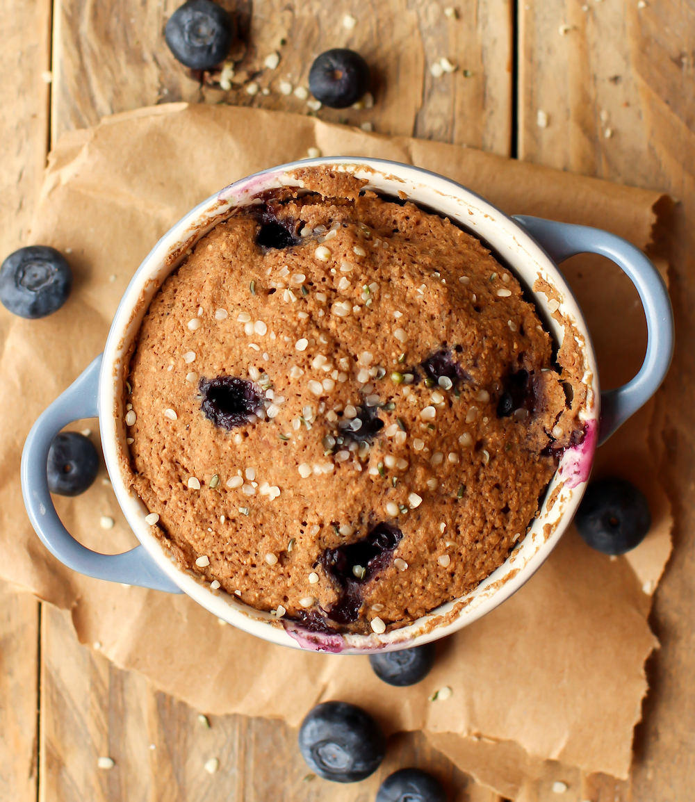 Blueberry Muffin In A Mug Vegan Gluten Free Oil Free