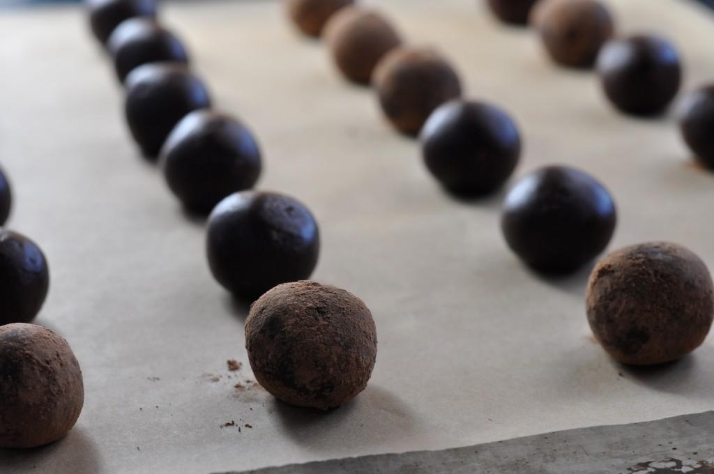 Goji Cardamom Rose Truffles