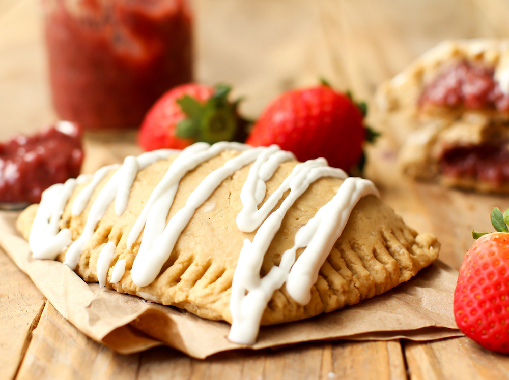 Strawberry Banana Pop Tarts (vegan + GF) - FeastingonFruit.com