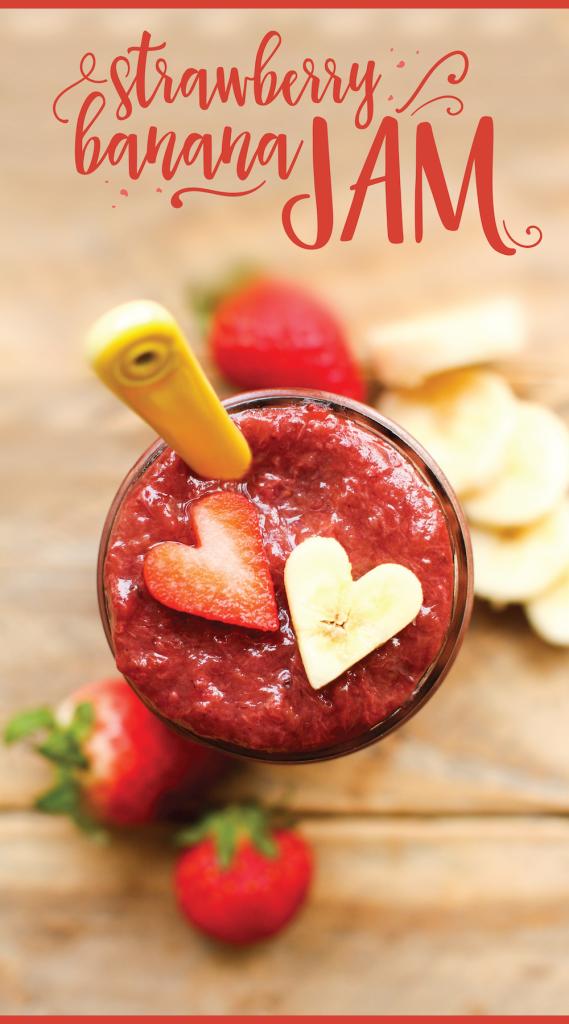 Easy Strawberry Banana Jam - FeastingonFruit.com