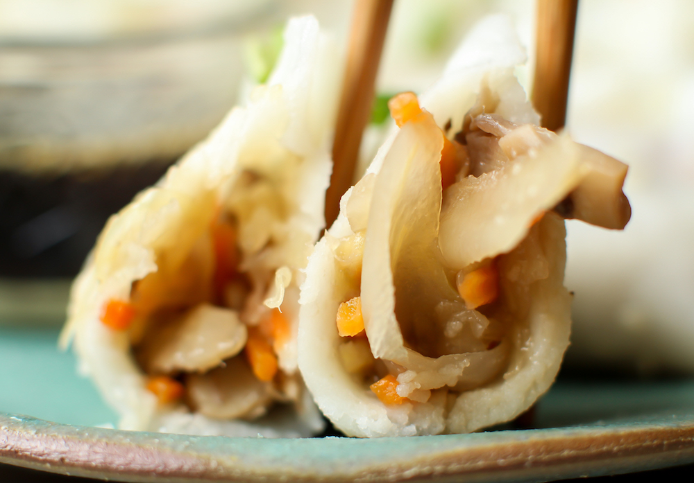 Vegan Dumplings with Easy Gluten-Free Wonton Wrappers (oil-free)