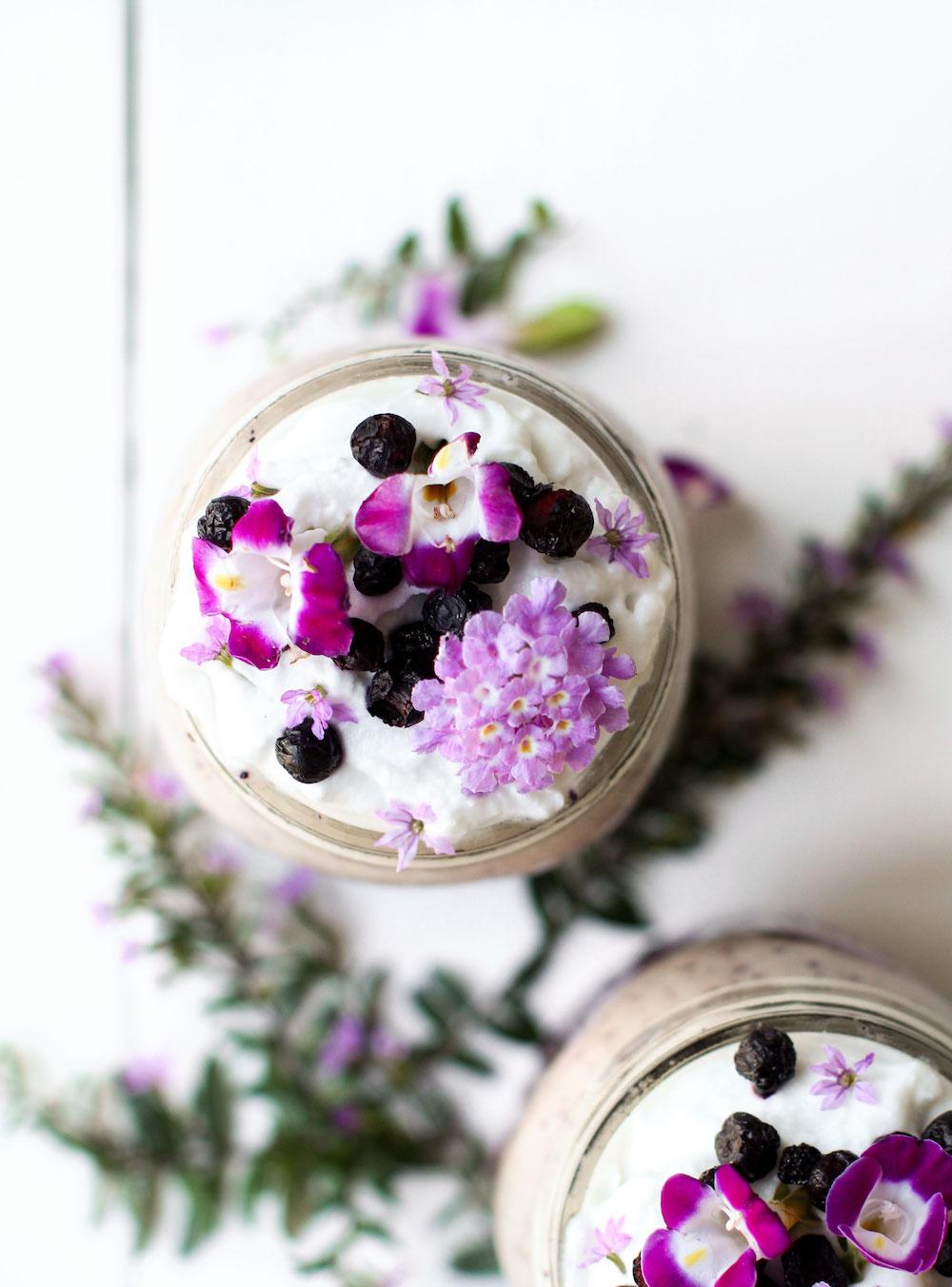 Purple Power Parfait | Vegan Purple Sweet Potato Recipe