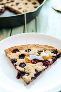 Giant Blueberry Skillet Pancake - Blissful Basil