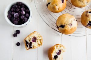 Low-Fat-Lemon-Bluberry-Muffins - Wallflower Kitchen