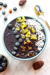 Blueberry Date Smoothie Bowls - Fit Foodie Finds