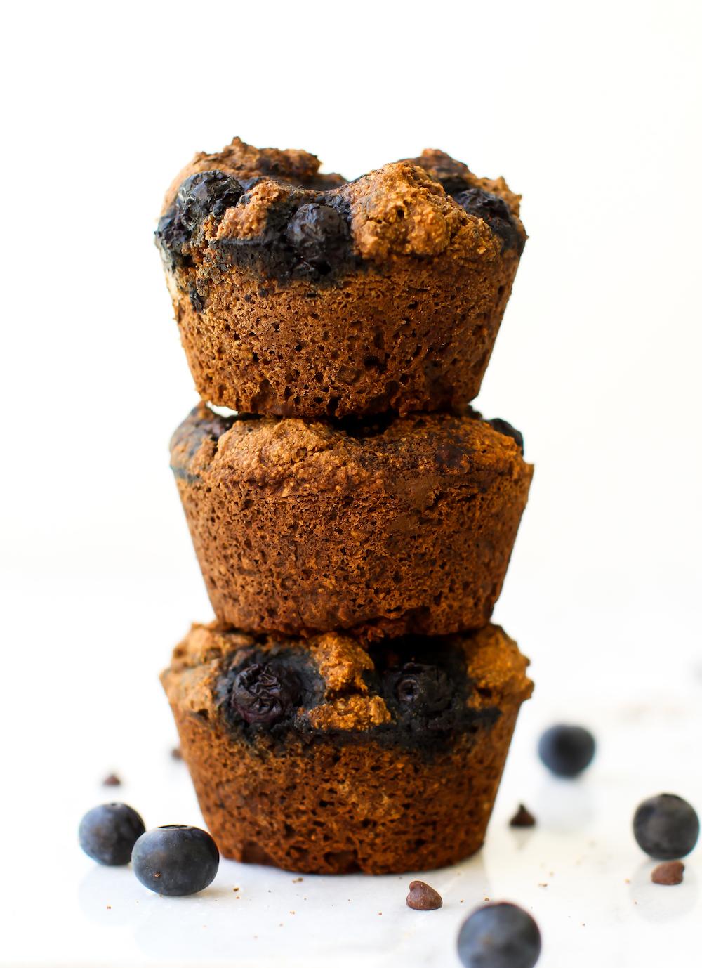 Chocolate Blueberry Muffins Turned Ice Cream Sandwich {vegan & gf}