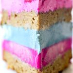 Cotton Candy Cake made with Vegan Ice Cream and Naturally Colored