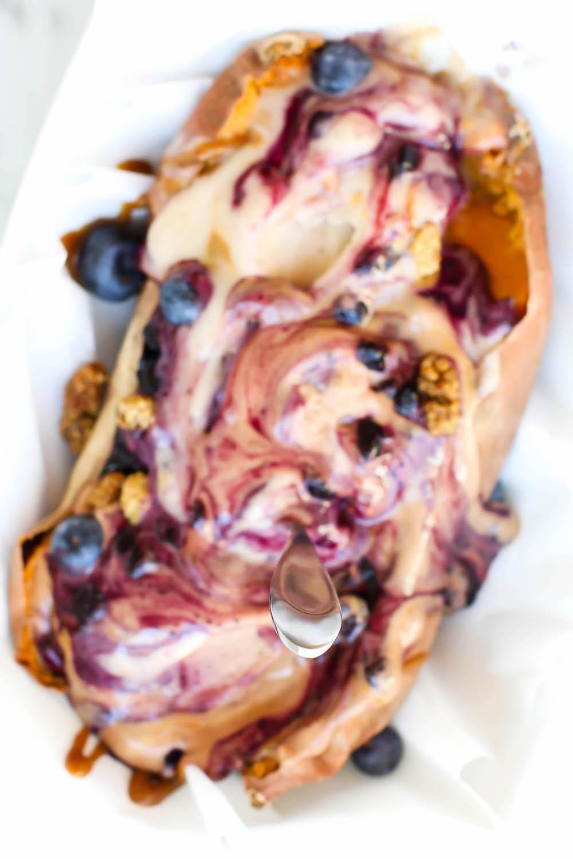 Sweet Potato Nice Cream Split {vegan}