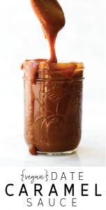 Vegan Date Caramel Sauce Pin