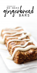 No-Bake Gingerbread Bars with Coconut Butter Glaze