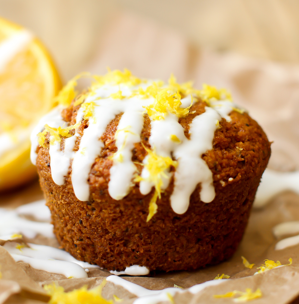 Vegan Lemon Poppy Seed Muffins {gluten-free & oil-free}