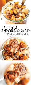 Spiced Chocolate Pear Overnight Oats