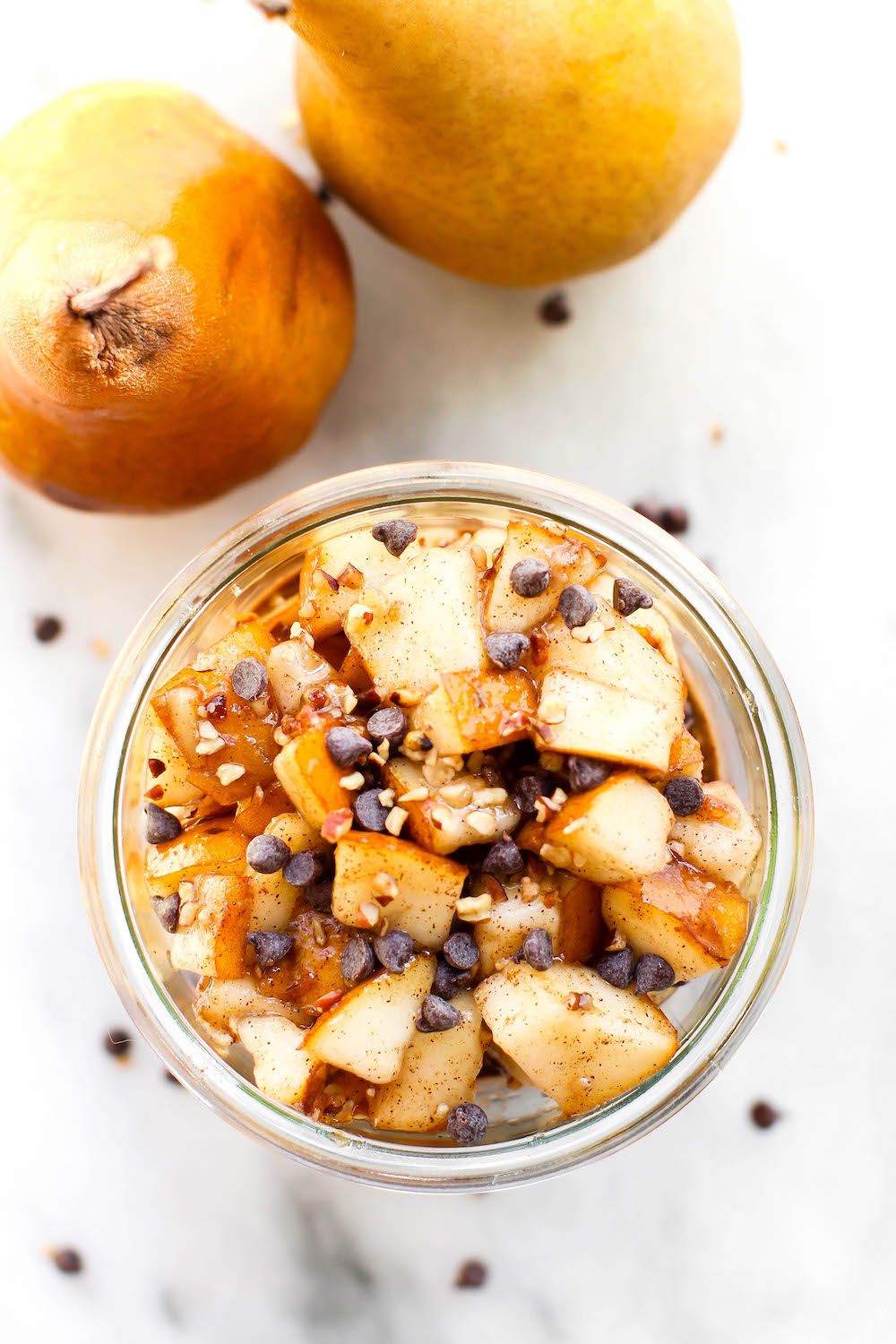 Spiced Chocolate Pear Overnight Oats