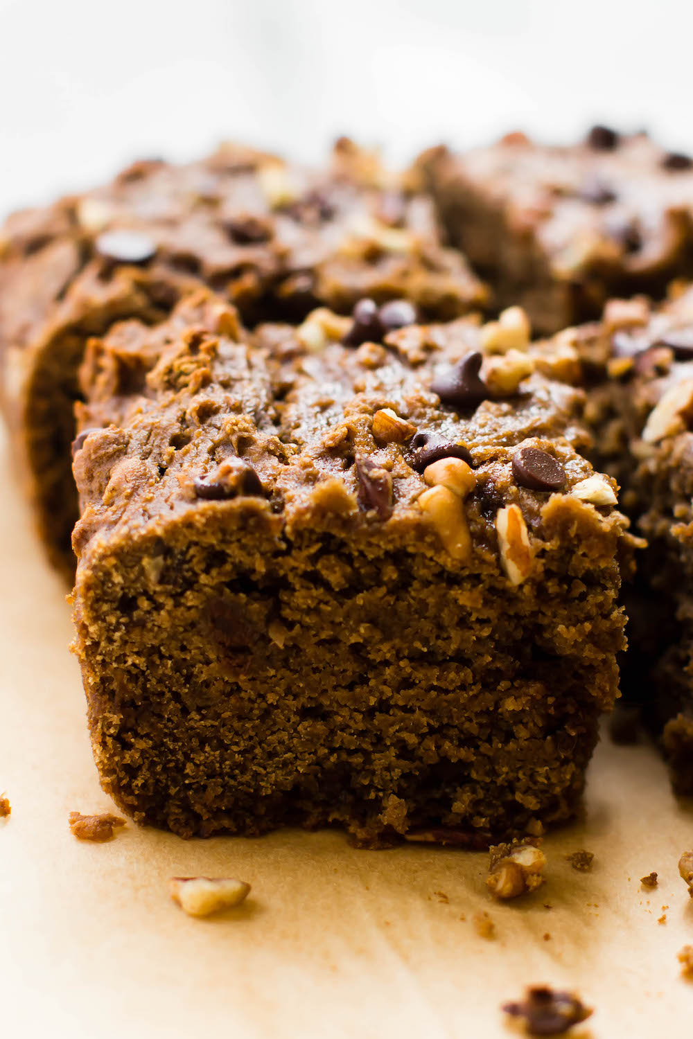 Banana Flour Chocolate Chip Cake {vegan & grain-free}
