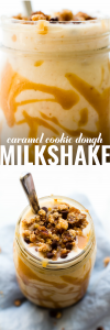 Caramel Cookie Dough Milkshake {Vegan & Banana-Free}