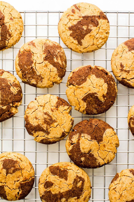 Chocolate & Vanilla Marble Cookies {Vegan, Gluten-Free, Oil-Free}