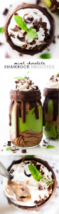 Mint Chocolate Shamrock Smoothie {vegan}