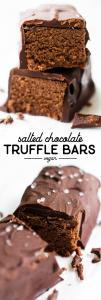 Salted Chocolate Truffle Bars {vegan}