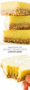 (Secret Ingredient) Vegan Lemon Bars