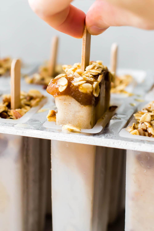 Banoffee Ice Cream Pops {vegan}