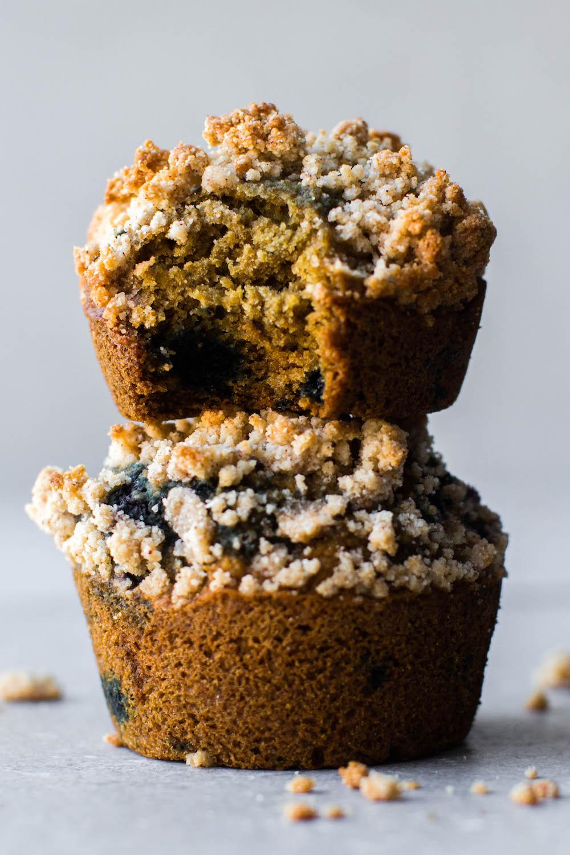 Blueberry Coffee Cake Muffins {vegan, gluten-free, oil-free}