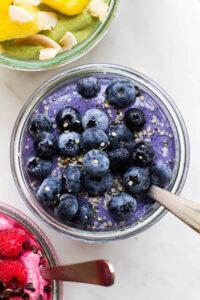 Blueberry Vanilla Cashew Smoothie Bowl