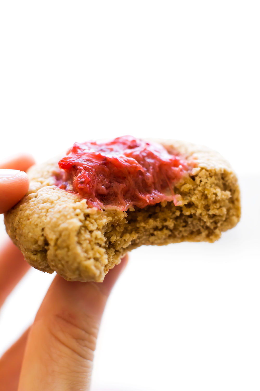 Vegan Thumbprint Cookies {gluten-free & oil-free}