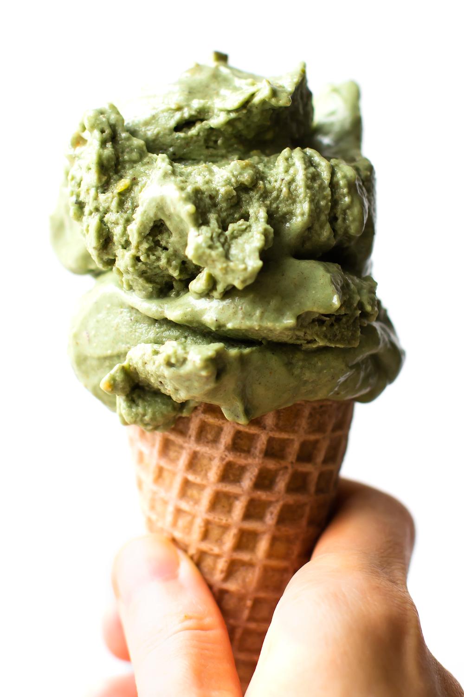 No-Churn Vegan Pistachio Ice Cream
