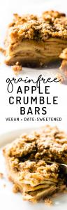Grain-Free Apple Crumble Bars