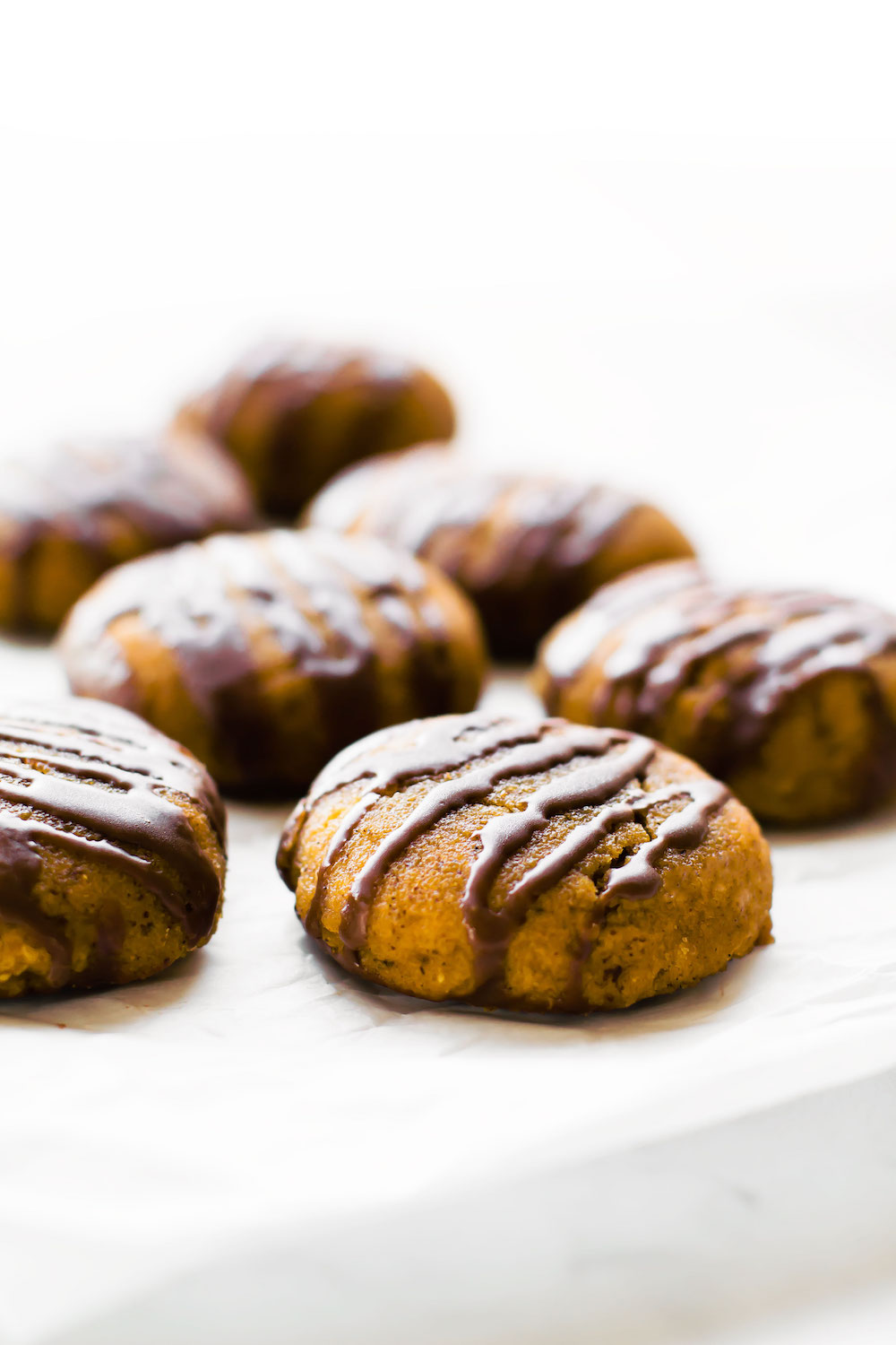 Chocolate Glazed Pumpkin Cookies