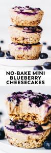 No-Bake Mini Blueberry Cheesecakes