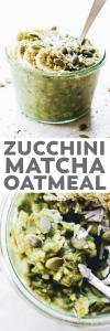 Zucchini Matcha Oatmeal
